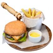 Чикенбургер с фри