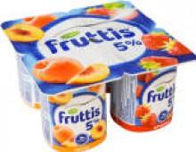 Продукт йогуртный Fruttis Клубника Персик 5% 115г
