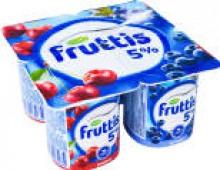 Продукт йогуртный Fruttis Вишня Черника 5% 115г
