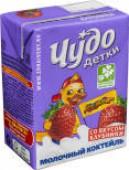 Коктейль молочный Чудо Детки Клубника 3.2% 200мл