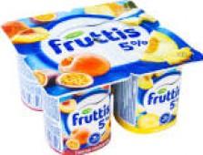 Продукт йогуртный Fruttis Сливочное лакомство Дыня-Манго Банан-Клубника 5% 115г