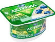 Биопродукт творожно-йогуртный Активиа Супер Овсянка с Черникой 4% 130г