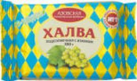 Халва Азовская КФ Подсолнечная с изюмом 350г