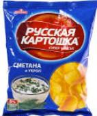Чипсы Русская картошка Сметана и укроп 50г