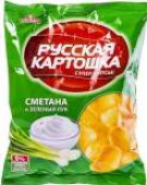 Чипсы Русская картошка Сметана и зеленый лук 50г