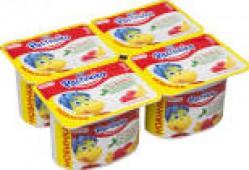 Йогурт Растишка Малина-банан 3% 110г